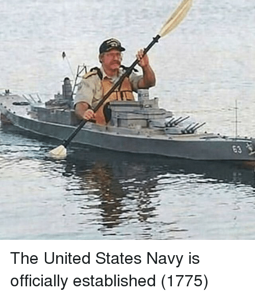 Established: The United States Navy is officially established (1775)