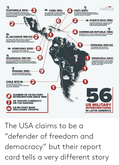 "Freedom: The USA claims to be a ""defender of freedom and democracy"" but their report card tells a very different story"