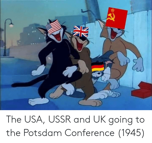 USSR: The USA, USSR and UK going to the Potsdam Conference (1945)