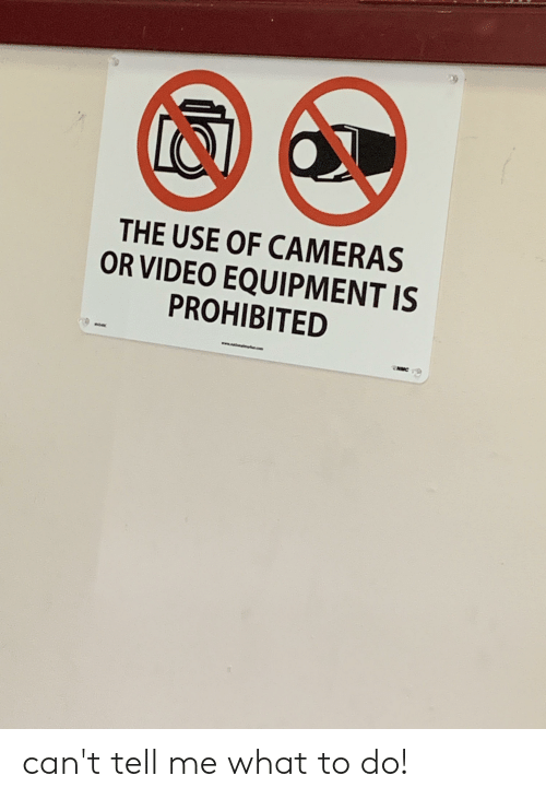 nmc: THE USE OF CAMERAS  OR VIDEO EQUIPMENT IS  PROHIBITED  www.  NMC can't tell me what to do!