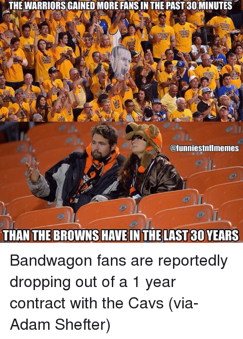 The Warriors Gainedmore Fans Inthe Past 30 Minutes Ofunniestnflmemes