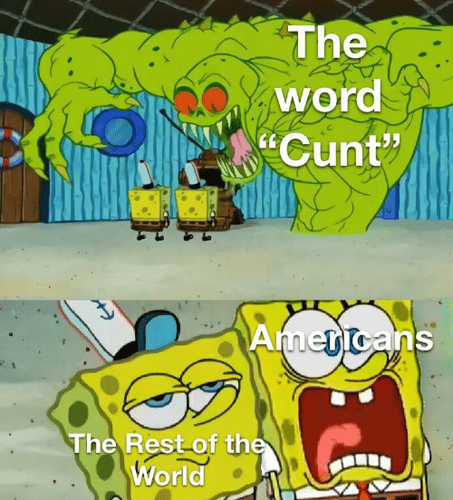 "Cunt: The  word  Cunt""  Americans  The Rest of the  World"