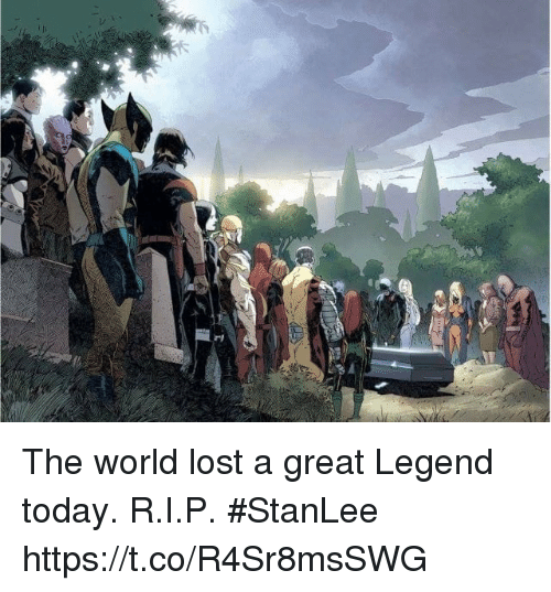 Memes, Lost, and Today: The world lost a great Legend today. R.I.P. #StanLee https://t.co/R4Sr8msSWG