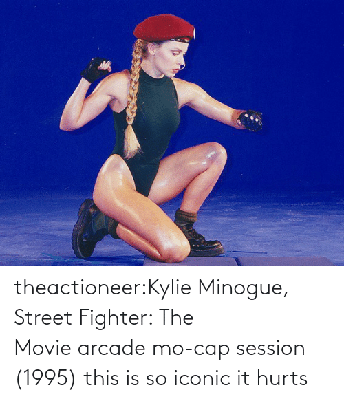 street: theactioneer:Kylie Minogue, Street Fighter: The Movie arcade mo-cap session (1995) this is so iconic it hurts