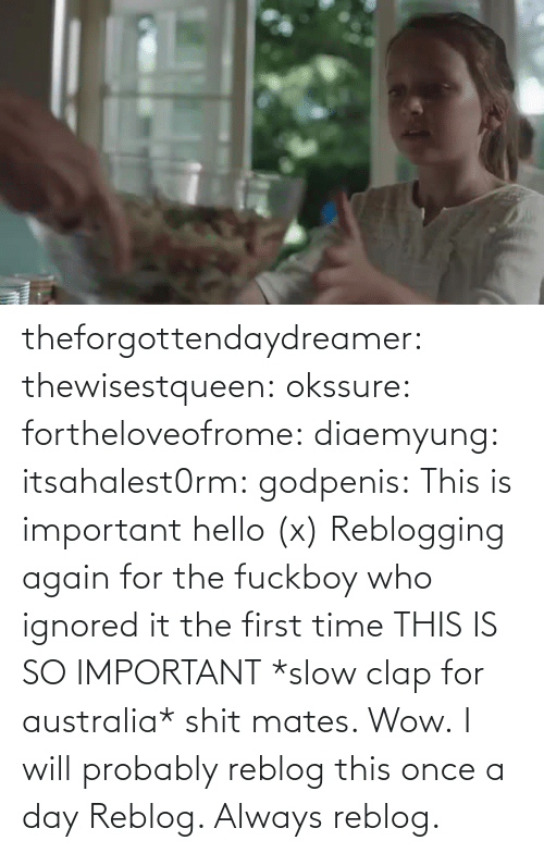 Reblog: theforgottendaydreamer:  thewisestqueen:   okssure:  fortheloveofrome:  diaemyung:  itsahalest0rm:  godpenis:  This is important hello (x)  Reblogging again for the fuckboy who ignored it the first time  THIS IS SO IMPORTANT  *slow clap for australia* shit mates. Wow.  I will probably reblog this once a day          Reblog. Always reblog.