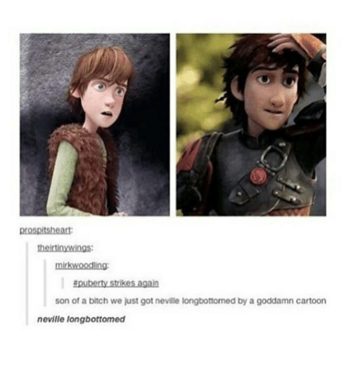 Neville Longbottomed: theirtinywings:  mirkwoodling:  Epuberty trike  again  son of a bitch we just got neville longbottomed by a goddamn cartoon  neville longbottomed