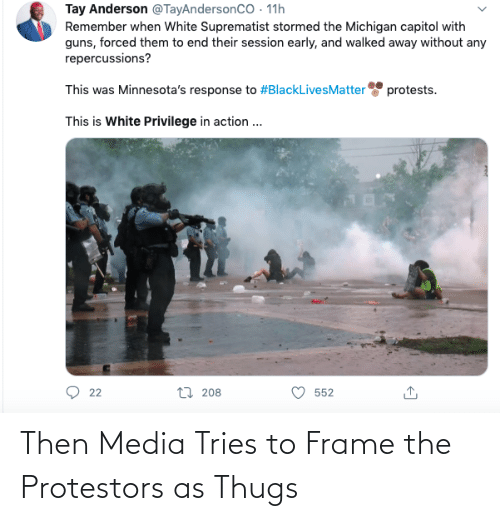 thugs: Then Media Tries to Frame the Protestors as Thugs