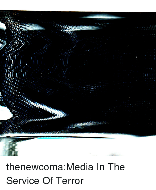Tumblr, Blog, and Media: thenewcoma:Media In The Service Of Terror