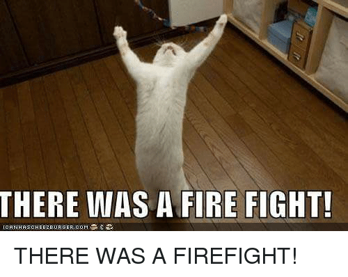 There Was A Firefight: THERE WAS A FIRE FIGHT!  IORNHRSCHEEZEURGER COM THERE WAS A FIREFIGHT!