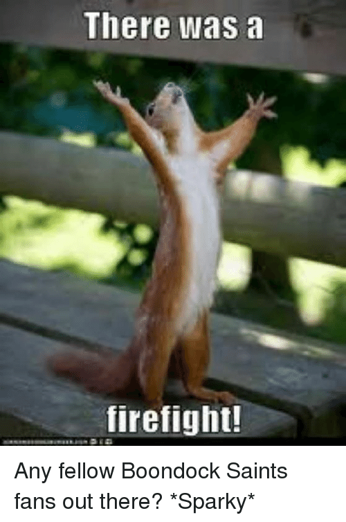 There Was A Firefight: There was a  firefight! Any fellow Boondock Saints fans out there?  *Sparky*