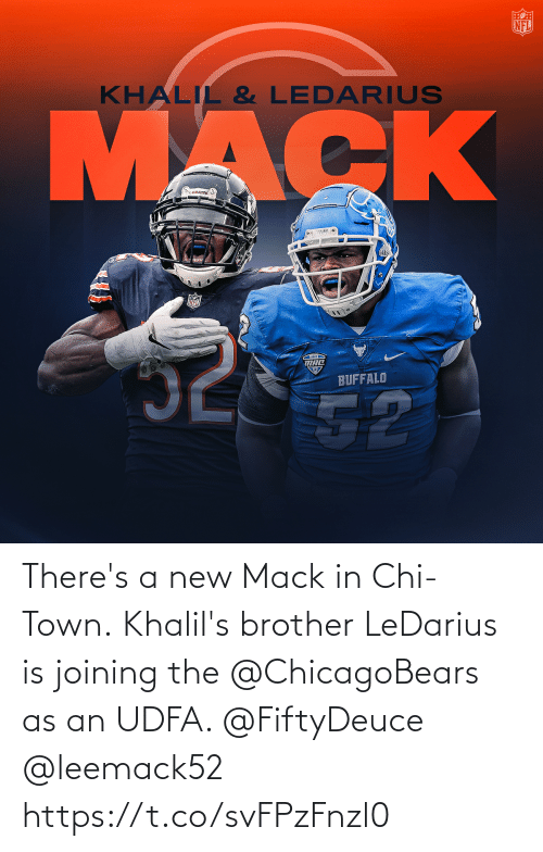 Joining: There's a new Mack in Chi-Town.  Khalil's brother LeDarius is joining the @ChicagoBears as an UDFA. @FiftyDeuce @leemack52 https://t.co/svFPzFnzl0