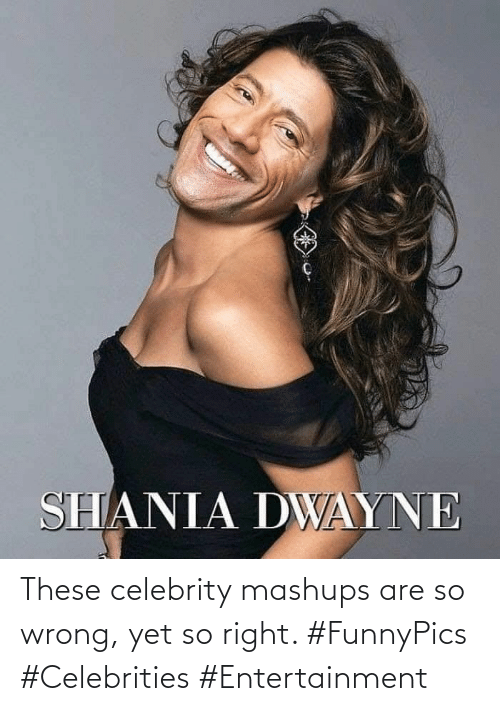 So Wrong: These celebrity mashups are so wrong, yet so right. #FunnyPics #Celebrities #Entertainment