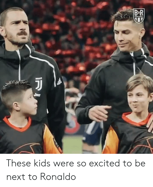 Ronaldo: These kids were so excited to be next to Ronaldo