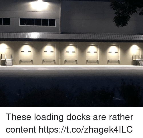 Content, Faces-In-Things, and Loading: These loading docks are rather content https://t.co/zhagek4ILC