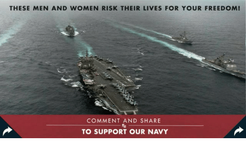 Navy, Women, and Conservative: THESE MEN AND WOMEN RISK THEIR LIVES FOR YOUR FREEDOM  COMMENT AND SHARE  TO SUPPORT OUR NAVY