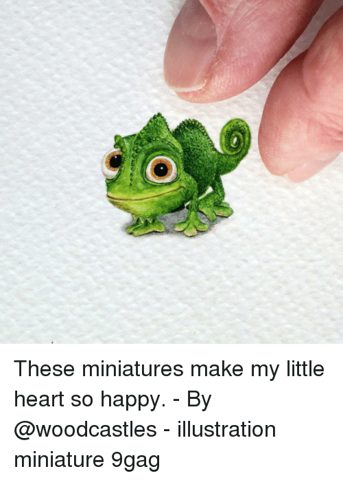 9gag, Memes, and Happy: These miniatures make my little heart so happy. - By @woodcastles - illustration miniature 9gag