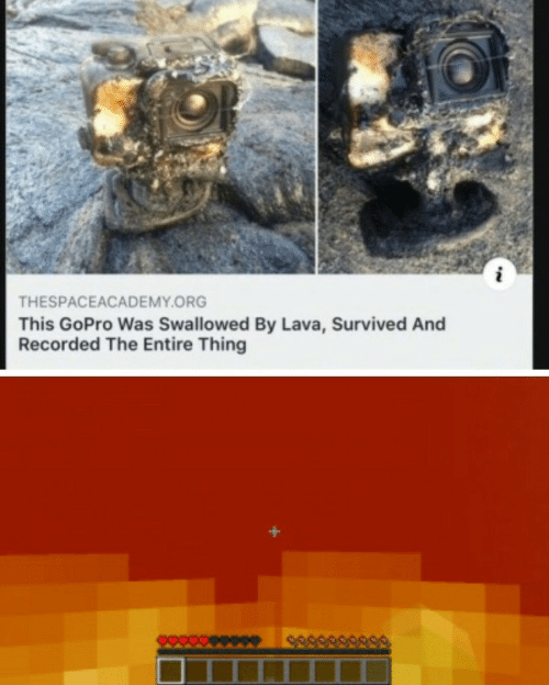 lava: THESPACEACADEMY.ORG  This GoPro Was Swallowed By Lava, Survived And  Recorded The Entire Thing  589