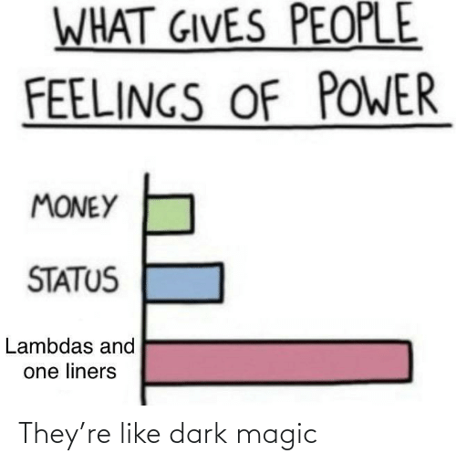 like: They're like dark magic
