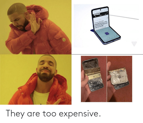 Too Expensive: They are too expensive.