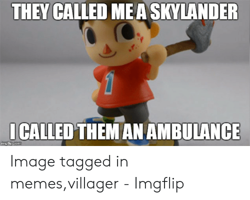 Villager Meme: THEY CALLED MEA SKYLANDER  ICALLED THEMAN AMBULANCE Image tagged in memes,villager - Imgflip