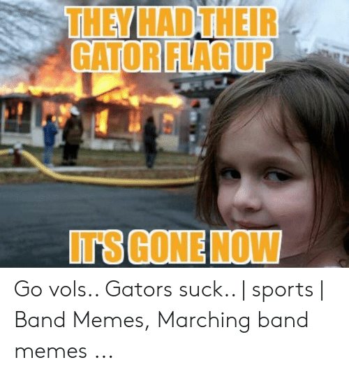 Marching Band Memes: THEY HAD THEIR  GATOR FLAG UP  IT'S GONE NOW Go vols.. Gators suck.. | sports | Band Memes, Marching band memes ...