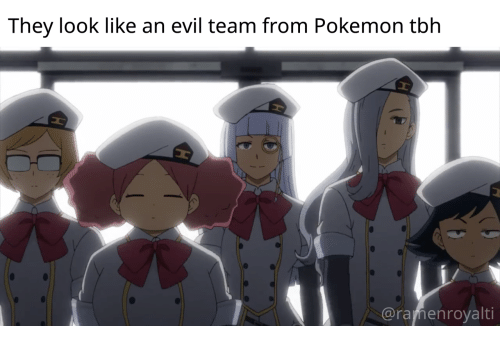 Pokemon, Tbh, and Evil: They look like an evil team from Pokemon tbh  @ramenroyalti