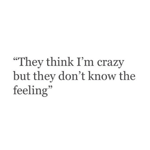 """The Feeling: """"They think I'm crazy  but they don't know the  feeling  95"""