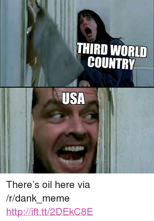 """Dank, Meme, and Http: THIRD WORLD  COUNTRY  USA <p>There&rsquo;s oil here via /r/dank_meme <a href=""""http://ift.tt/2DEkC8E"""">http://ift.tt/2DEkC8E</a></p>"""