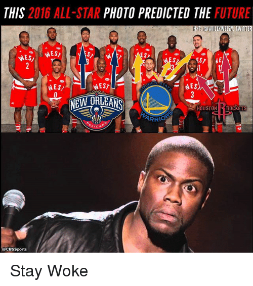 Cbssports: THIS 2016 ALL-STAR PHOTO PREDICTED THE FUTURE  H/T @WILLYWEEZY, TWITER  WEE  ARRO  @CBSSports Stay Woke