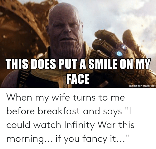 Put a smile on my face