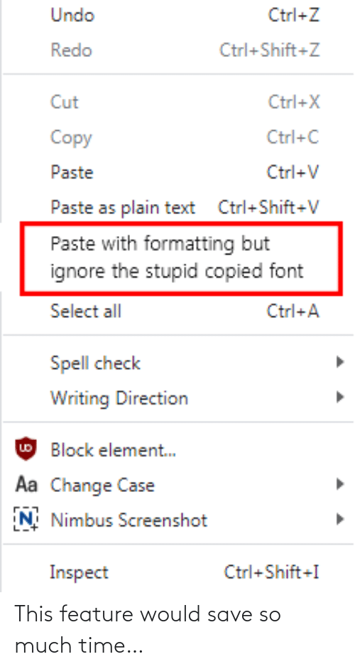 Feature: This feature would save so much time…