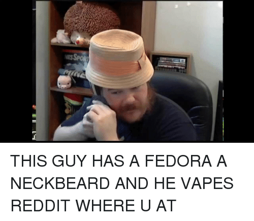 This Guy Has A Fedora A Neckbeard And He Vapes Reddit Where U At