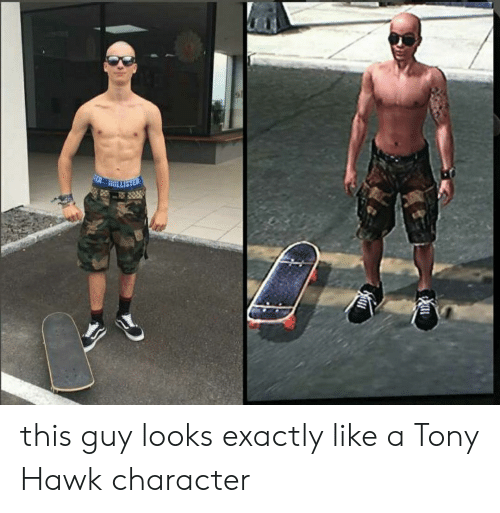 Hawkes: this guy looks exactly like a Tony Hawk character