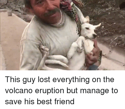 Eruption: This guy lost everything on the volcano eruption but manage to save his best friend
