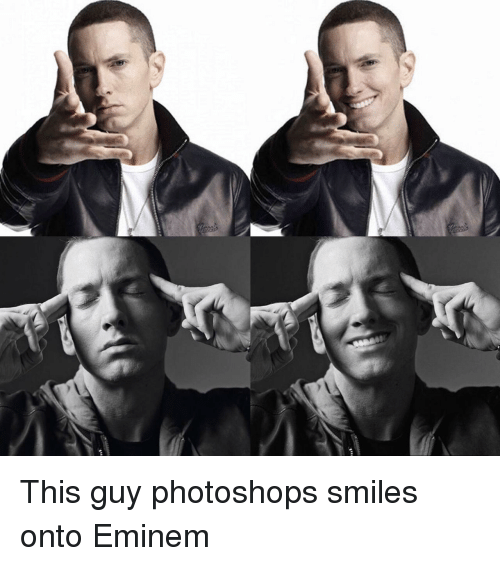 Eminem, Smiles, and This: This guy photoshops smiles onto Eminem
