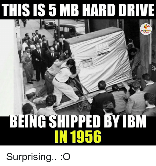 ibm: THIS IS 5MB HARD DRIVE  BEING SHIPPED BY IBM  IN 1956 Surprising.. :O
