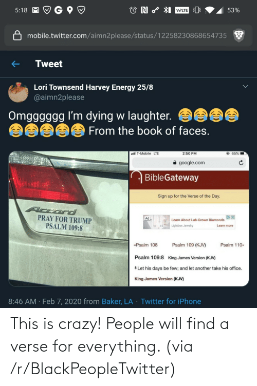 This Is Crazy: This is crazy! People will find a verse for everything. (via /r/BlackPeopleTwitter)