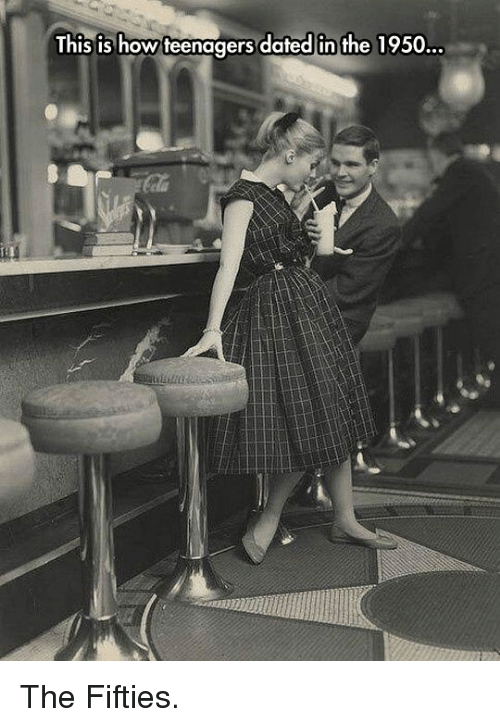 fifties: This is how teenagers dated in the 1950 <p>The Fifties.</p>