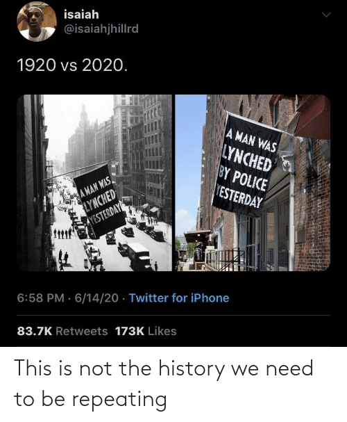 Not The: This is not the history we need to be repeating