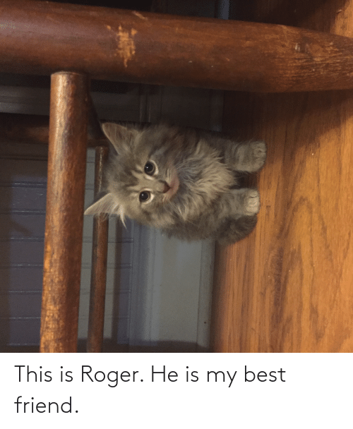 Roger: This is Roger. He is my best friend.