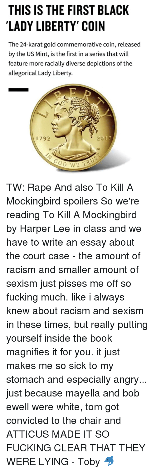 essay on racism in to kill a mockingbird To kill a mockingbird - analytical essay throughout the novel to kill a mockingbird we are presented with two things, a happy little southern town and the ugly face of racism.