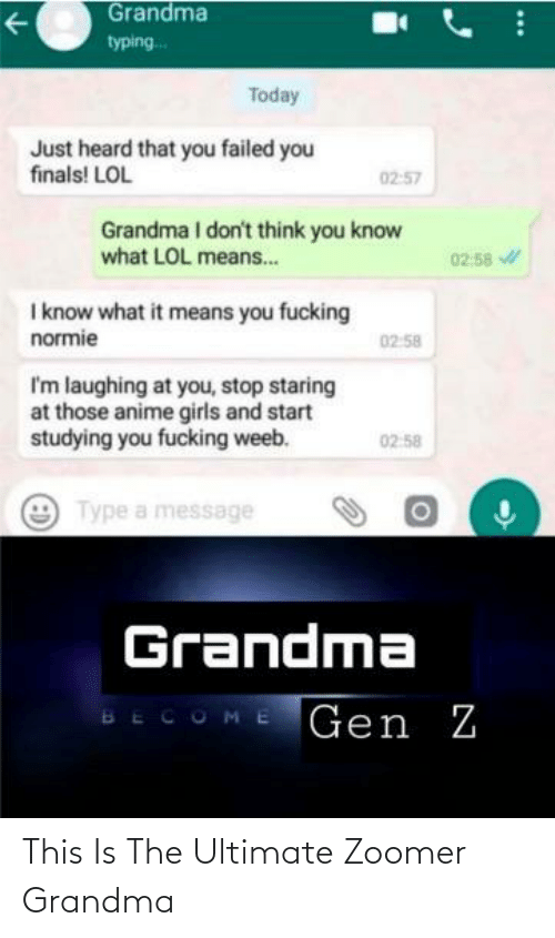 Ultimate: This Is The Ultimate Zoomer Grandma