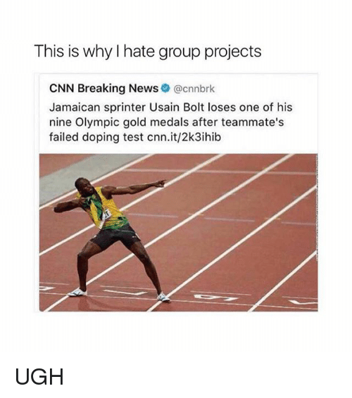 hate group: This is why hate group projects  CNN Breaking News  @cnnbrk  Jamaican sprinter Usain Bolt loses one of his  nine Olympic gold medals after teammate's  failed doping test cnn.it/2k3ihib UGH