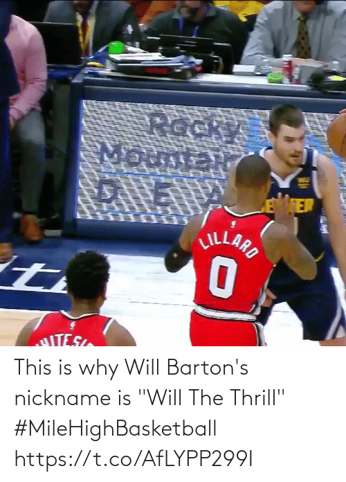 "This Is Why: This is why Will Barton's nickname is ""Will The Thrill""   #MileHighBasketball   https://t.co/AfLYPP299I"