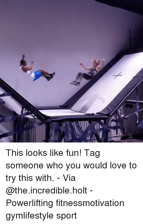 Powerlifting: This looks like fun! Tag someone who you would love to try this with. - Via @the.incredible.holt - Powerlifting fitnessmotivation gymlifestyle sport