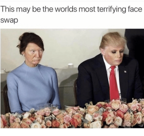 Face Swap: This may be the worlds most territying face  swap