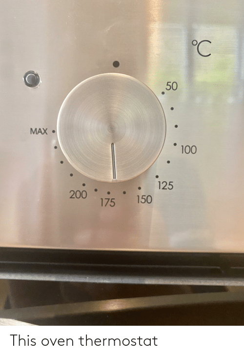 Thermostat: This oven thermostat