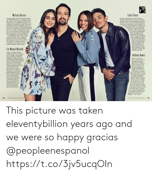 gracias: This picture was taken eleventybillion years ago and we were so happy gracias @peopleenespanol https://t.co/3jv5ucqOIn