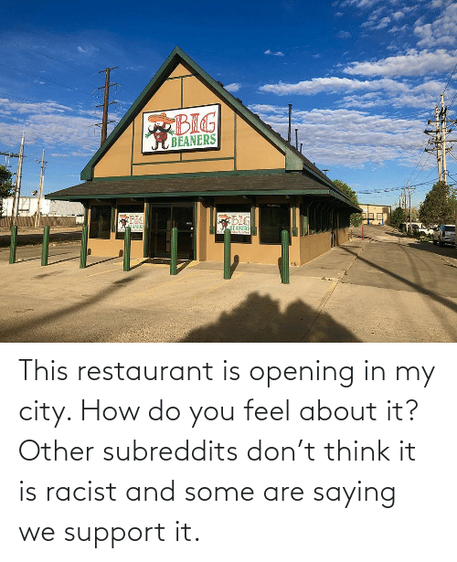 How Do You: This restaurant is opening in my city. How do you feel about it? Other subreddits don't think it is racist and some are saying we support it.