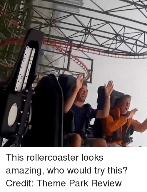 theme park: This rollercoaster looks amazing, who would try this?  Credit: Theme Park Review